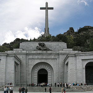 Valle de Los Caidos, Madrid, Spain. Cross.