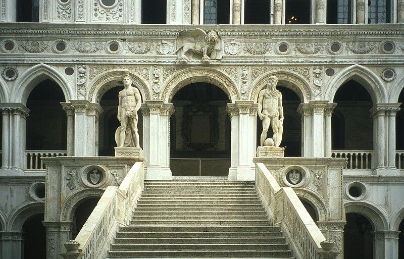 wejście do Pałacu Dożów, Wenecja