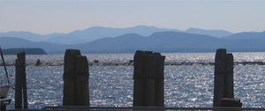 Lake Champlain from the Burlington wharves