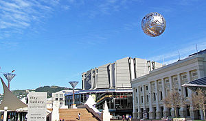 Art Ferns & Civic Square in Wellington, New Ze...