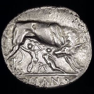 Anonymous (Rome). Circa 269-266 BC. Silver did...