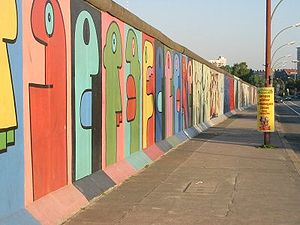 The East Side Gallery is the longest remaining...