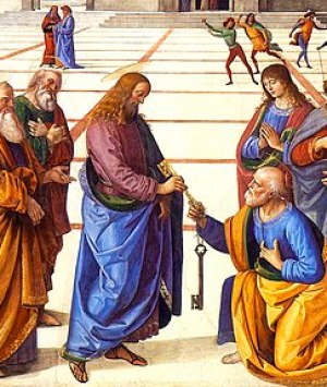 English: Christ Handing the Keys to St. Peter ...
