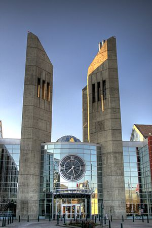 One entryway to the Grant MacEwan University c...