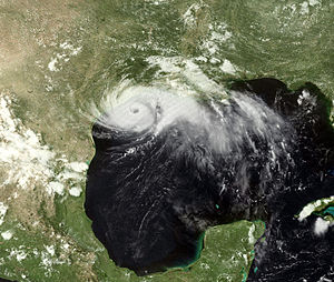 A updated Image of Hurricane Alicia.