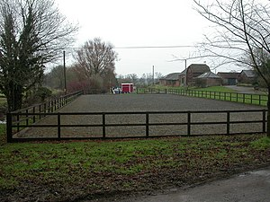Knighton, horse training ground At Knighton Fa...
