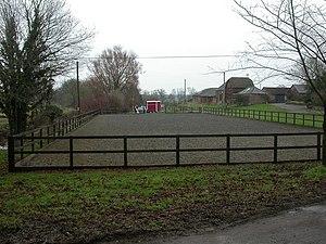 Knighton, horse training ground At Knighton Fa...