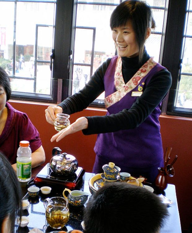 File:Ngong Ping Tea House Demonstration.jpg