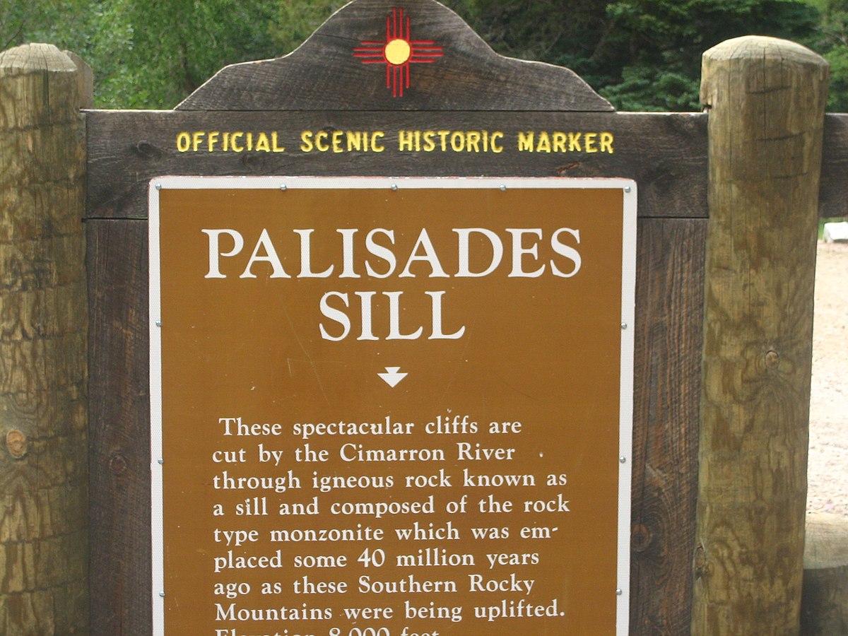 Cimarron Palisades Canyon Sill