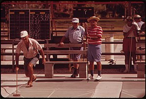 Photograph of Shuffleboard at the Century Vill...