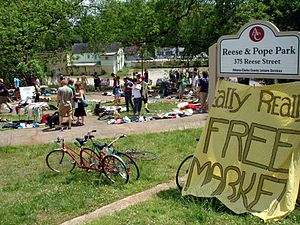 the Really Really Free Market, Mayday weekend ...