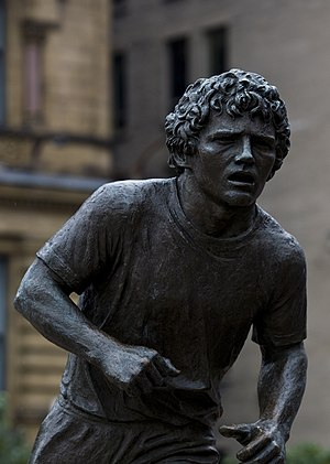 Terry Fox statue in Ottawa, Canada.