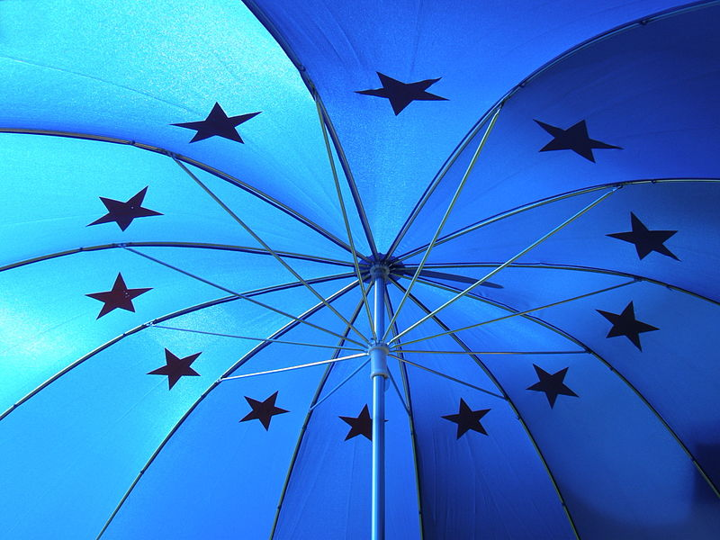 Blue Umbrella with Stars