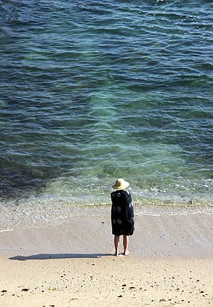 Woman at the beach. Porto Covo, southwest coas...
