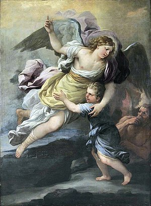 18th century rendition of a guardian angel.