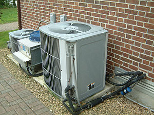 Air conditioner, complete with piping, insulat...