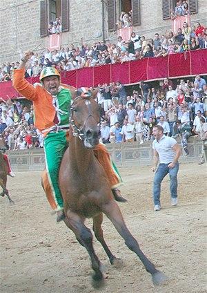 Selva jockey Salasso celebrates victory