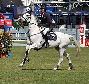 English: German rider Carsten-Otto Nagel with ...