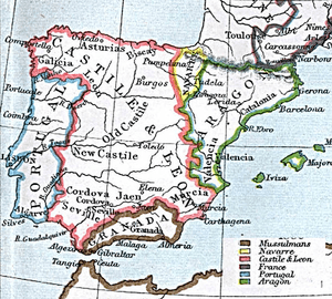 Limits of the Kingdom of Castile in 1360 (inco...