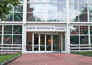 Entrance to the Cato Institute in Washington, DC.