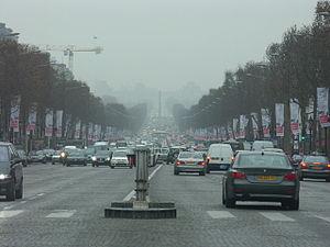 English: France-Paris-Traffic