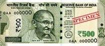 India new 500 INR, MG series, 2016, obverse.jpg