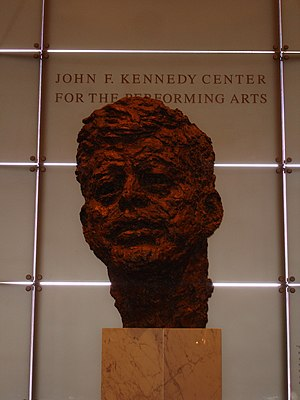 Bust of JFK from the Kennedy Center