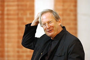 Conductor Sir John Eliot Gardiner at rehearsal...