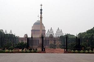 Rashtrapati Bhavan, the presidential palace in...