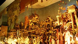 English: Nativity Scene in Santi Cosma e Damia...