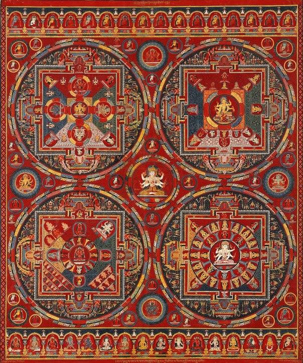 Tibetan, Central Tibet, Tsang (Ngor Monastery), Sakya order - Four Mandalas of the Vajravali Series - Google Art Project