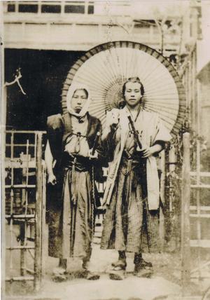 Samurai in old Japan. (L)Unknown (R)Umanosuke ...