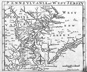 "English: Map of Pennsylvania and ""West Ne..."