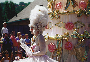 Marie Antoinette costume (note also the giant ...