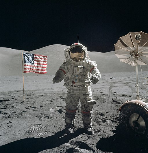 Apollo 17 Cernan on moon