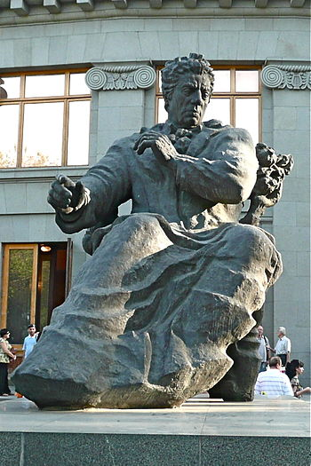 The monument of the composer Aram Khachaturian...