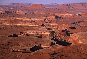 The classic view of Canyonlands National Park ...