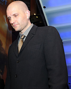 China Miéville just after winning the Arthur C...