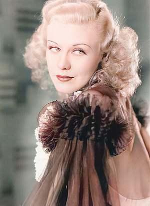 English: A still portrait of actress Ginger Ro...