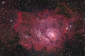 English: M8 Lagoon Nebula in Sagittarius