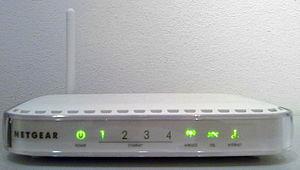 The front of a Netgear DG834v4