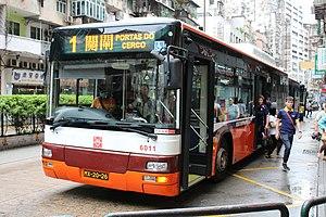 澳門巴士1路線 - 維基百科, 龍翔道,完全不用擔心坐過頭, 259D ,自由的百科全書