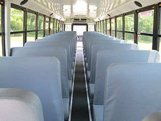 (school bus interior)