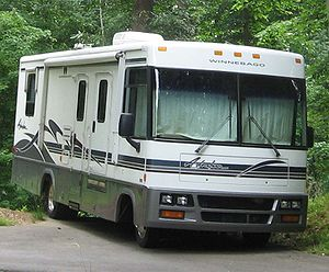 Winnebago Adventurer photographed in USA.