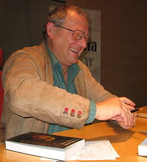 Adam Michnik during his author's meeting in Wr...
