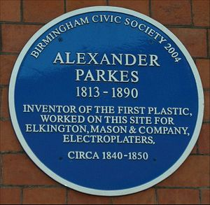 English: Blue plaque commemorating Alexander P...