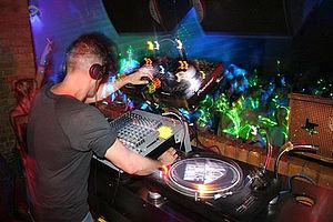 English: Ariel (DJ) in London's Fabric nightcl...