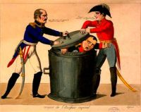English: Blucher Wellington and Napoleon's def...