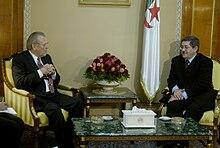 Ouyahia with Donald Rumsfeld on Feb. 12, 2006