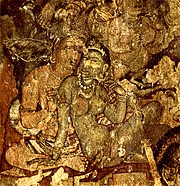 Paintings at the Ajanta Caves in Aurangabad, Maharashtra, 6th century.